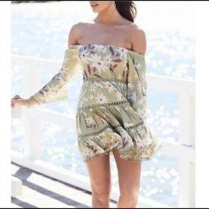 Jaase Green Floral Dress